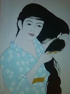 Harmony after bath  acryl painting by Murokancsa on Etsy