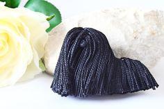 Crochet Brooch, Hungarian Gift, Hungarian Jewelry, Hungarian Folk Art, Gift for Women, Gift for Men, Christmas Gift, Black Dog Art by RoseValleyVilaga on Etsy