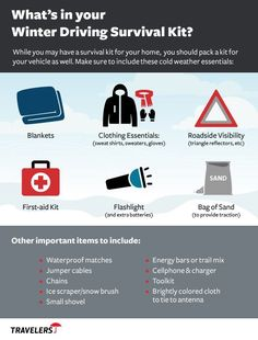 Are you prepared for winter driving? While you may have a survival kit for your home, you should pack a kit for your vehicle as well.  Pack your emergency roadside kit today & make sure it includes these cold weather essentials.