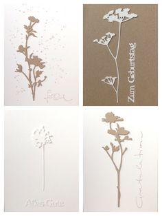 Die schlichte Karte: Wildflowers Von Tim Holtz