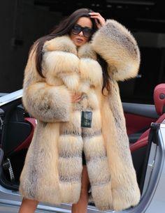 2017 GOLDEN ISLAND ROYAL FOX FUR COAT CLASS- CHINCHILLA SABLE MINK SILVER JACKET
