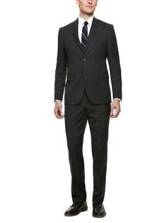 Black Pinstripe Suit by Prima Collezione Uomo on Gilt.com