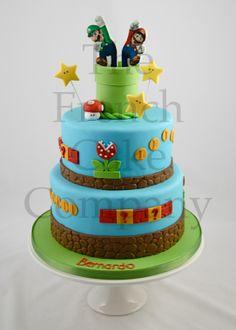 Cake for boys Mario and Luigi - Gateau D'anniversaire Pour Enfants Garcon Mario et Luigi - Verjaardagstaart
