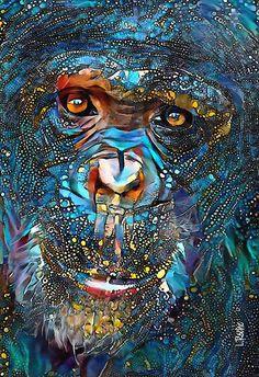 Art En Ligne, Wildlife Paintings, Art Original, Unique Animals, Sculpture, Fairy Art, Portrait, Oeuvre D'art, Design Crafts