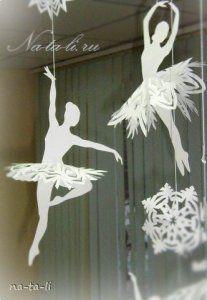 Creative Ideas - DIY Beautiful Snowflake Ballerinas from Templates 7