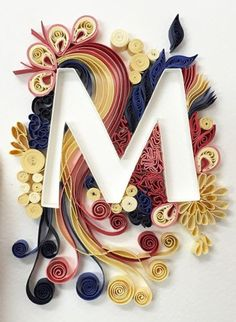 522 best abcsmonogramswordsnumbers quilled images on pinterest quilled m letter unknown quiller altavistaventures Gallery