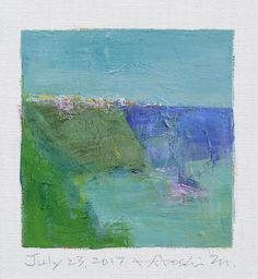 July 23 2017  Original Abstract Oil Painting  9x9 painting