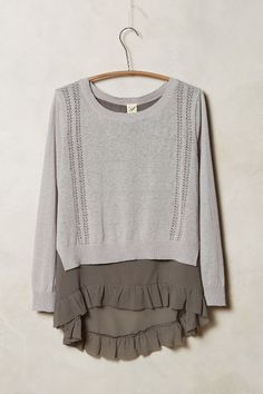 Anthropologie SKIRTED PULLOVER #anthrofave