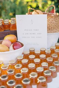 Verified The cutest favors to sweeten the day. 🍯 If you're having a summer wedding or just have a fondness for honeybees, this pretty and practical idea may just 'bee' the perfect fit for you! 🐝 | Photographer @amandacrean #stylemepretty #weddingfavors #weddingday #summerwedding #weddinginspiration #honeyfavors
