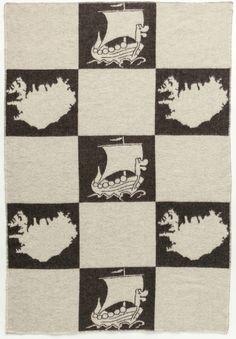 Álafoss Wool Blanket - Jaquard Viking (0203)
