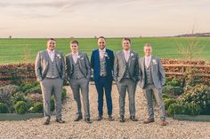 Grey Navy Suits Groom Groomsmen Blush Pink Rose Gold Barn Wedding http://www.robtarren.co.uk/