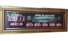 Tipe GOLD DK (116 x 41 cm Frame Fiber Lampu Background Berat Paket 17 Kg Rp.2.440.000,-  http://jamdigitalmasjid.id
