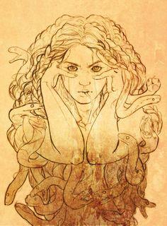 Medusa Linework by Newsha-Ghasemi