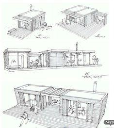 Great idea for eco ( low cost housing) Fab!                              http://dornob.com/pre-fab-post-fad-neo-rustic-retro-modern-prefab-cabins/