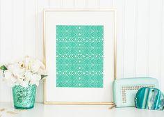 Poster Print  Going Native  8x10 or 11x14 For by PomGraphicDesign #tribal #turquoise #homedecor #decor #decorideas #minimaldecor #interiordesign #tribaldecor #turquoisedecor #tealdecor #minimal #minimaldecor #geometricdecor #geometric