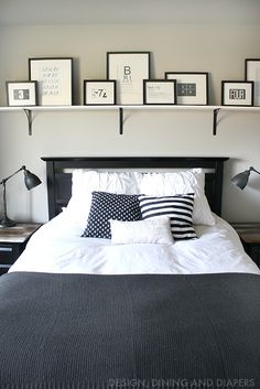 Rustic Modern Black and White Bedroom                                                                                                                                                                                 More
