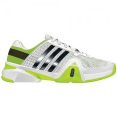 new product 83759 73fe0 Get a good grip on the court with The lightweight Adidas-Mens-Adipower- Barricade-8-Tennis-Shoe-White Night-ShadeSolar-Slime   www.luxurytennisclub.com