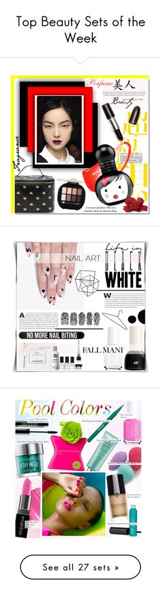 """""""Top Beauty Sets of the Week"""" by polyvore ❤ liked on Polyvore featuring beauty, Christian Dior, M.A.C, Beauty, perfume, Londontown, alfa.K, H&M, Essie and Deborah Lippmann"""