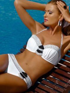 2013 swimwear | Meriell Club Swimwear 2013 Pearls Bandeau Two Piece Bikini Swimsuit by ...