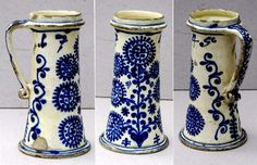 Saxon pitcher from Transylvania, Kingdom of Hungary. Ethnographic Museum of Transylvania, Kolozsvár (Klausenburg, Cluj-Napoca). Old Pottery, Ceramic Pottery, Contemporary Decorative Art, Naive Art, Delft, Decoration, Flower Art, Folk Art, Objects