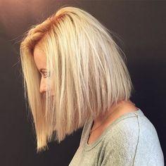 Стрижки боб на среднюю длину прямых волос и использование эффекта окрашивания…