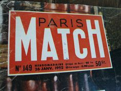 A Paris Match from 1958. Jam Packed full of excellent vintage imagery.  What a brilliant selection of pictures and vintage information; full of celebrity gossip of the day, advertisements, inspiration for scrapbookers,graphic designers, card makers, artists, fashion gurus...I love it!  Its also really good for helping with French learning, my mother tells me she used to buy this as a teenager to help with her French, an interesting way to learn new vocabulary.  This issue is a great one it…