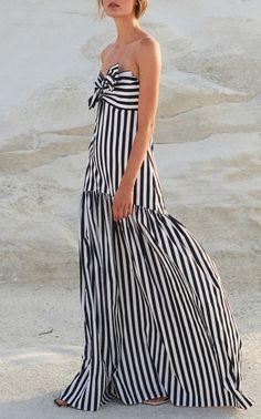Strapless Maxi Dress by CAROLINE CONSTAS for Preorder on Moda Operandi
