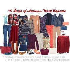 40 days of autumn: work capsule wardrobe
