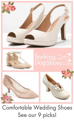 a206eef184a 9 Stylish yet Comfortable Wedding Shoes and Sandals