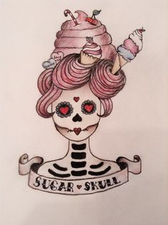 Sugar Skull, Drawn by me
