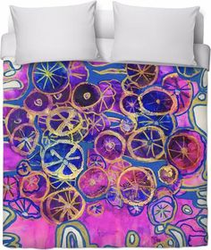 Layers Of Blooms Duvet Cover