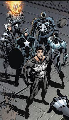 Venomverse, Peter Parker 3 by Marvel And Dc Superheroes, Marvel Comics Art, Marvel Heroes, Marvel Characters, Black Spiderman, Spiderman Art, Comic Books Art, Comic Art, Solgaleo Pokemon