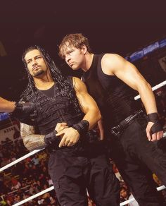 Roman Reigns and Dean Ambrose 💖😍😍💕💖💜💓💚💛💟💞💗 Roman Reigns Dean Ambrose, Roman Regins, The Shield Wwe, Wwe Roman Reigns, Wwe Reigns, Wrestling Superstars, Thing 1, Seth Rollins, Wwe Wrestlers
