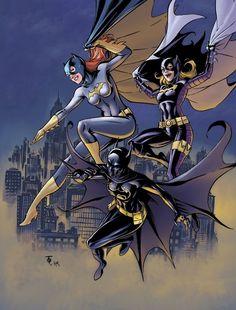 Barbara Gordon, Stephanie Brown, Cassandra Cain: three different Batgirls.