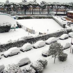 Roma: un risveglio sotto la neve