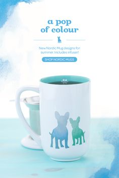 This French bulldog mug changes colour when you add hot water! Color Change, Color Pop, Colour, Coffee Cups, Tea Cups, Davids Tea, New Nordic, Tea Recipes, Tea Time