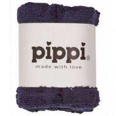Dark Navy 4-pak vaskeklude - Pippi eller andre babyvaskeklude