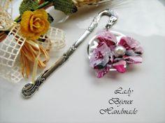 Segnalibro in metallo con fiore Orchidea di Lady Bijoux Handmade su DaWanda.com