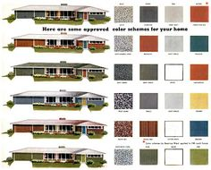 Mad for Mid-Century: Exterior Mid-Century Color Palette
