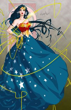 Wonder Woman ball gown.  This is SO ADORABLE, I've always argued that WW should fight in a ball gown.  This is SO BEAUTIFUL.  I want one of these on my body, SO PRETTY!!!