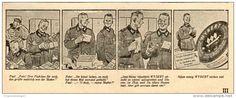 Original-Werbung/ Anzeige 1943 - WYBERT GEGEN SCHNUPFEN / MOTIV FELDPOST/ SOLDATEN (CARTOON) - ca. 140 x 60 mm