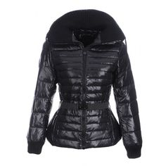 48dac6e4597a 2012 Moncler Lierre Belted Puffer Jacket with Knit Black -   off discount  code  happywinter