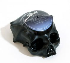 Ted Riederer Primal Sound Melted Vinyl Skulls