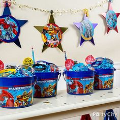 Transformers Party Ideas: Decorations - Click to View Larger