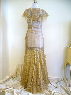 INCREDIBLE Rare Late 1920s Early 1930s French Lame by Poshporscha, $669.00