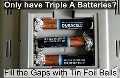 Only have AAA batteries??