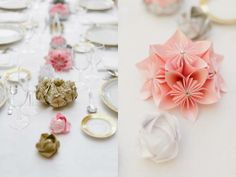 origami paper flowers centerpieces