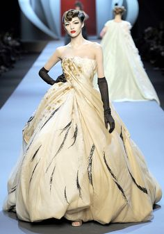 Christian Dior. Never in my lifetime will I have a place to wear this dress, but it is phenomenal.