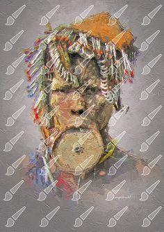 Fine digital artwork for your walls Mursi Tribe, Palette Knife, Your Cards, Christmas Wreaths, Fine Art, Holiday Decor, Artwork, Work Of Art, Auguste Rodin Artwork