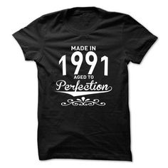 Made in 1991 - Aged to Perfection - New Design T Shirts, Hoodies Sweatshirts. Check price ==► http://store.customtshirts.xyz/go.php?u=https://www.sunfrog.com/Birth-Years/Made-in-1991--Aged-to-Perfection--New-Design-ikiffptrbz.html?41382